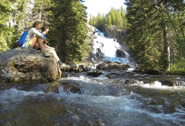 Hiking in Grand Teton National Park, Hidden Falls