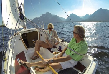 Sailing on Jackson Lake, Grand Teton National Park