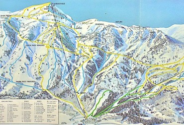 Jackson Hole Ski Area Map - 1969
