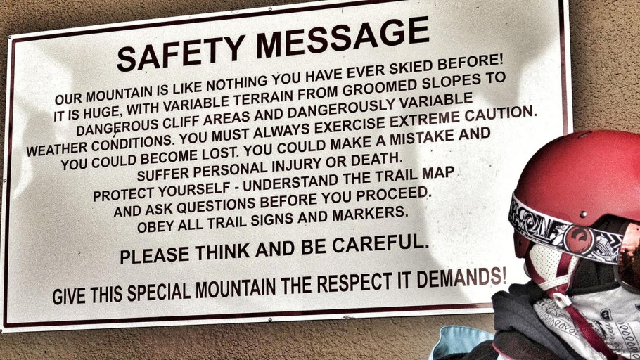 Jackson Hole Skiing Safety Message