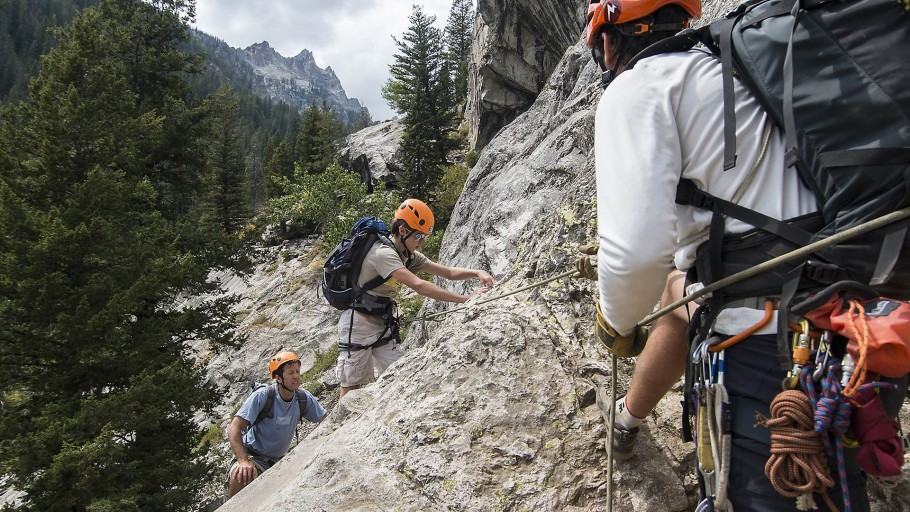 Family Climbing with Exum Guides in the Tetons