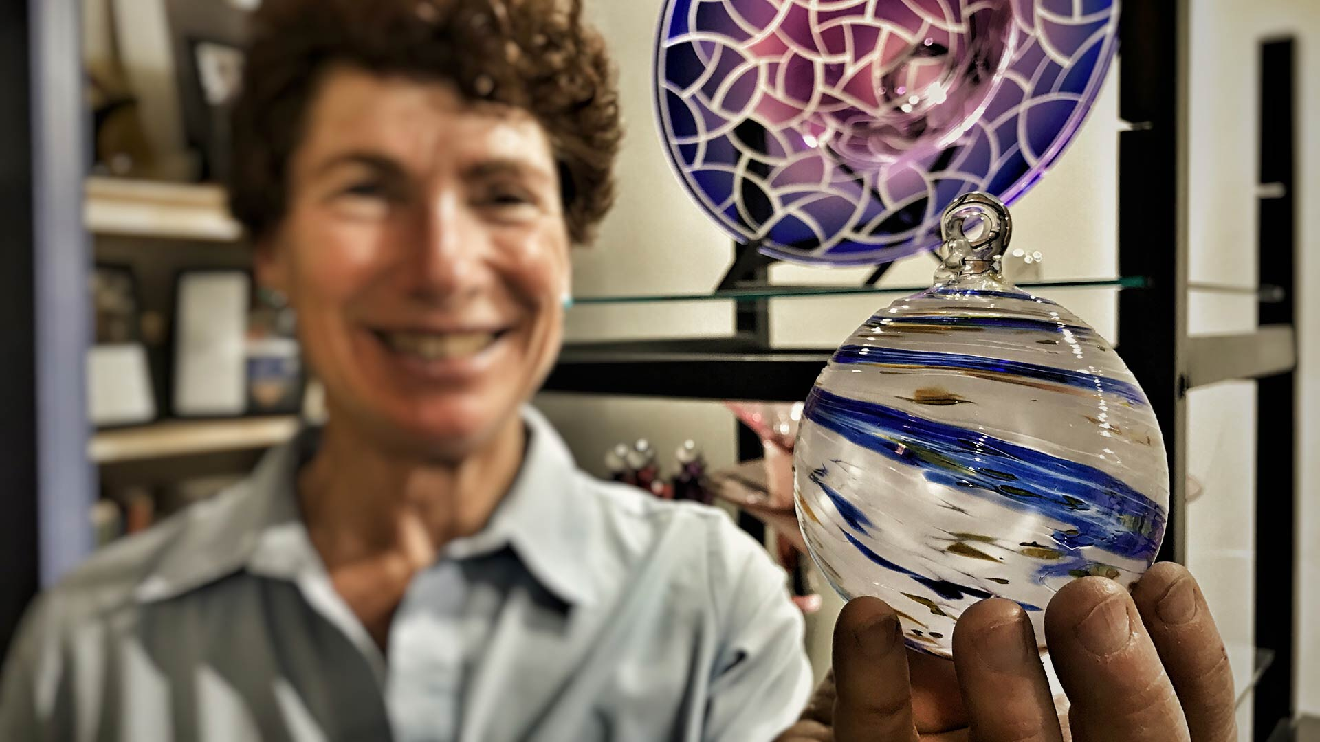 Laurie Thal Glass Blower - Jackson Hole