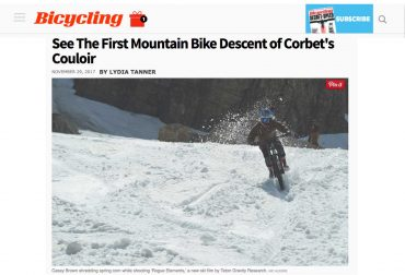 See The First Mountain Bike Descent of Corbet's Couloir