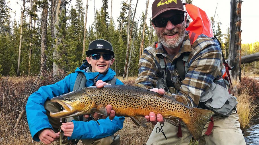 Male brown trout caught by Joe Dimarco in the Lewis Channel.