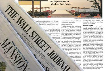 Wall Street Journal - Jackson Hole - Latham Jenkins Realtor