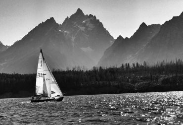Sailing on Jackson Lake - Grand Teton National Park, Wyoming