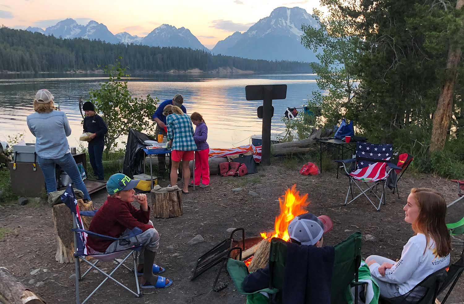 Camping on Jackson Lake - Grand Teton National Park