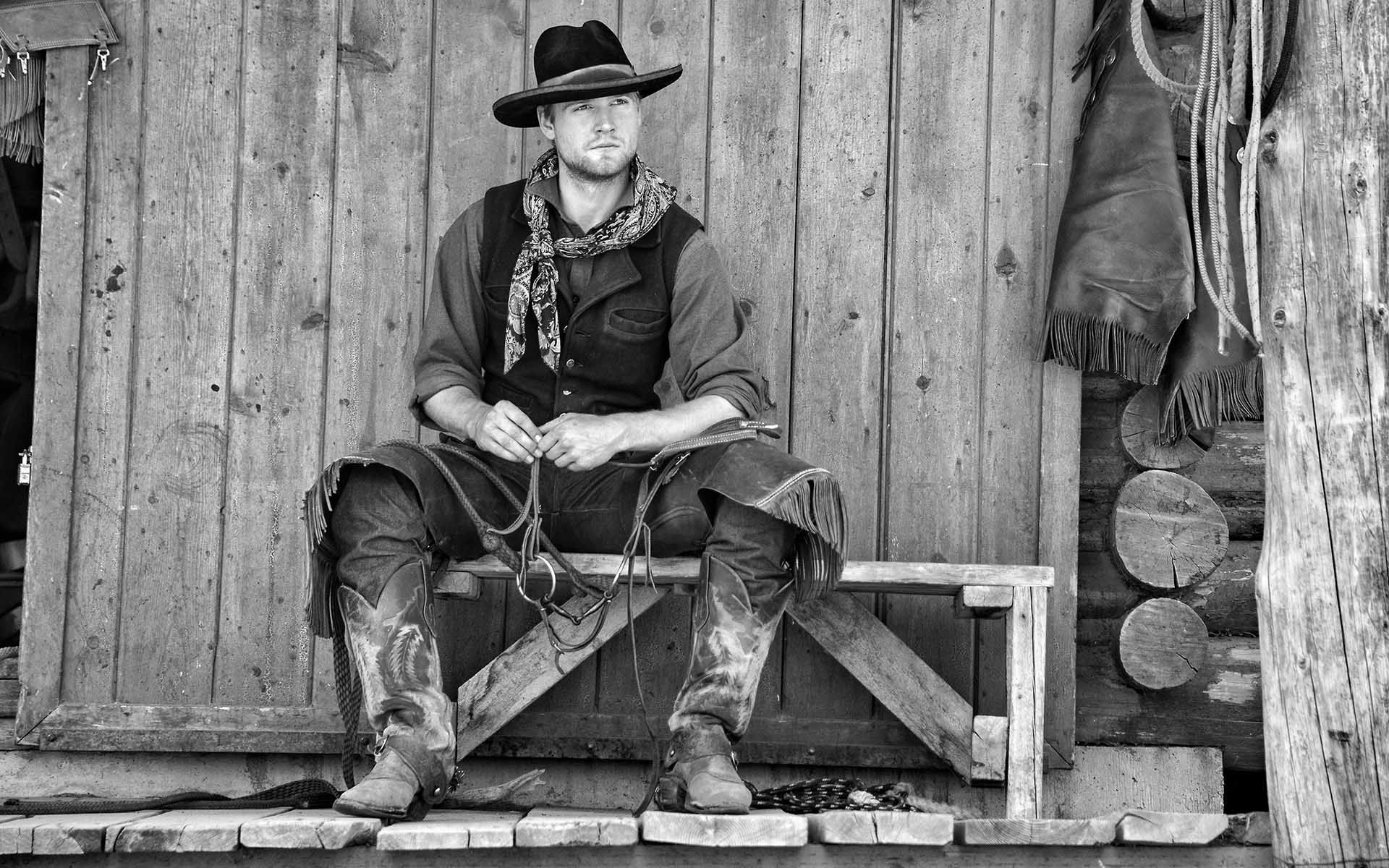 Cowboy William Dunn, multi-generational Wyomingite, at the Triangle X Ranch, in Jackson Hole