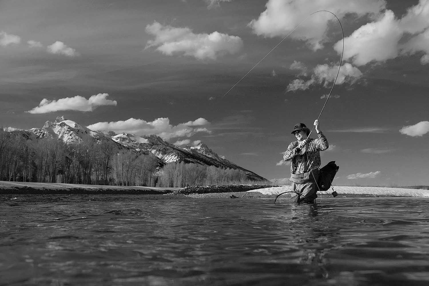 Fly fishing at the Bar-B-Bar Ranches in Jackson Hole