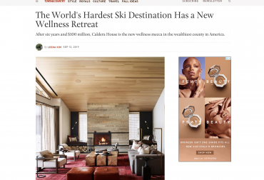 Town & Country: The World's Hardest Ski Destination Has a New Wellness Retreat