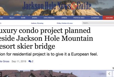 Luxury condo project planned beside Jackson Hole Mountain Resort skier bridge