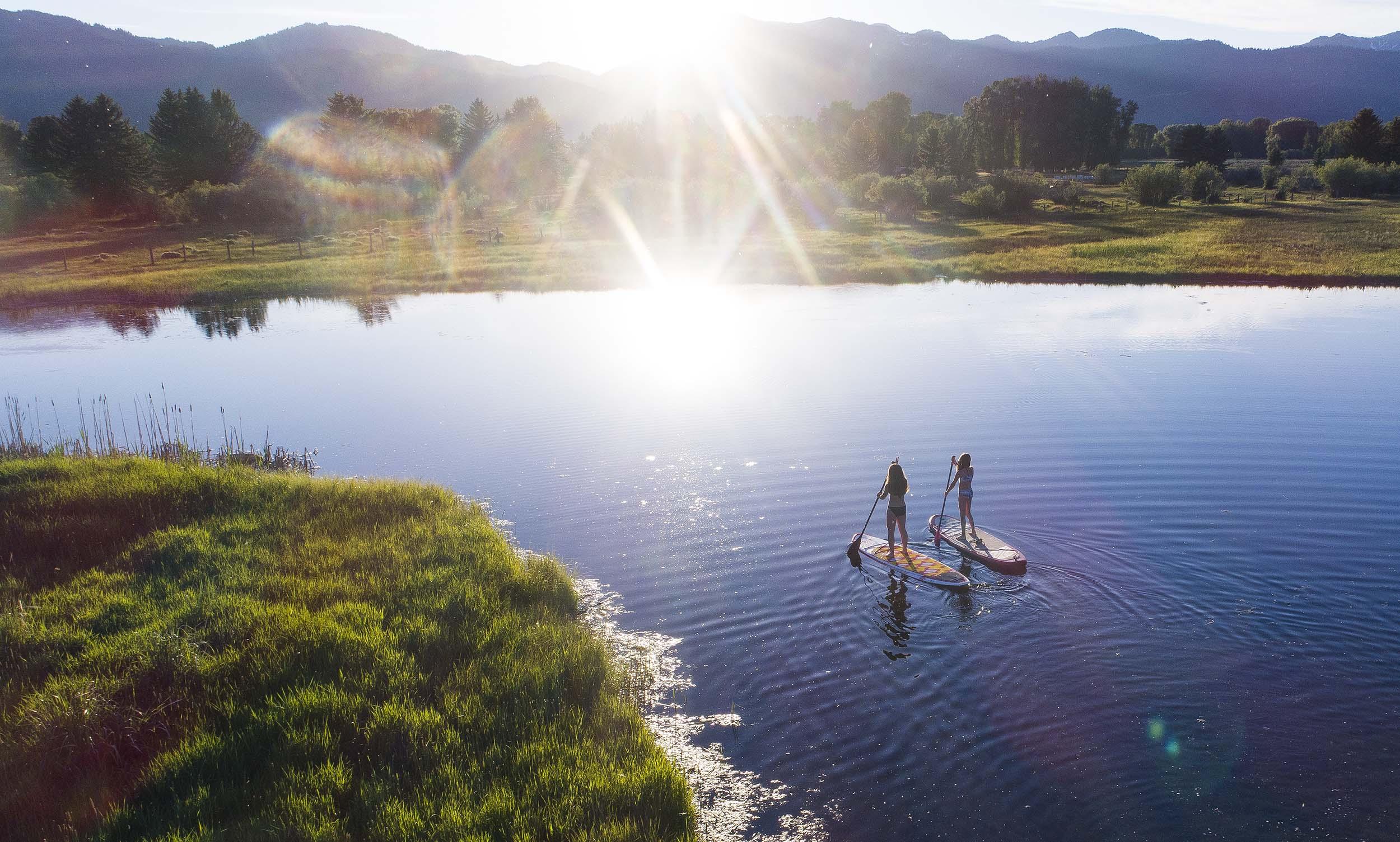 paddleboarding-cody-creek-ranch-jackson-hole