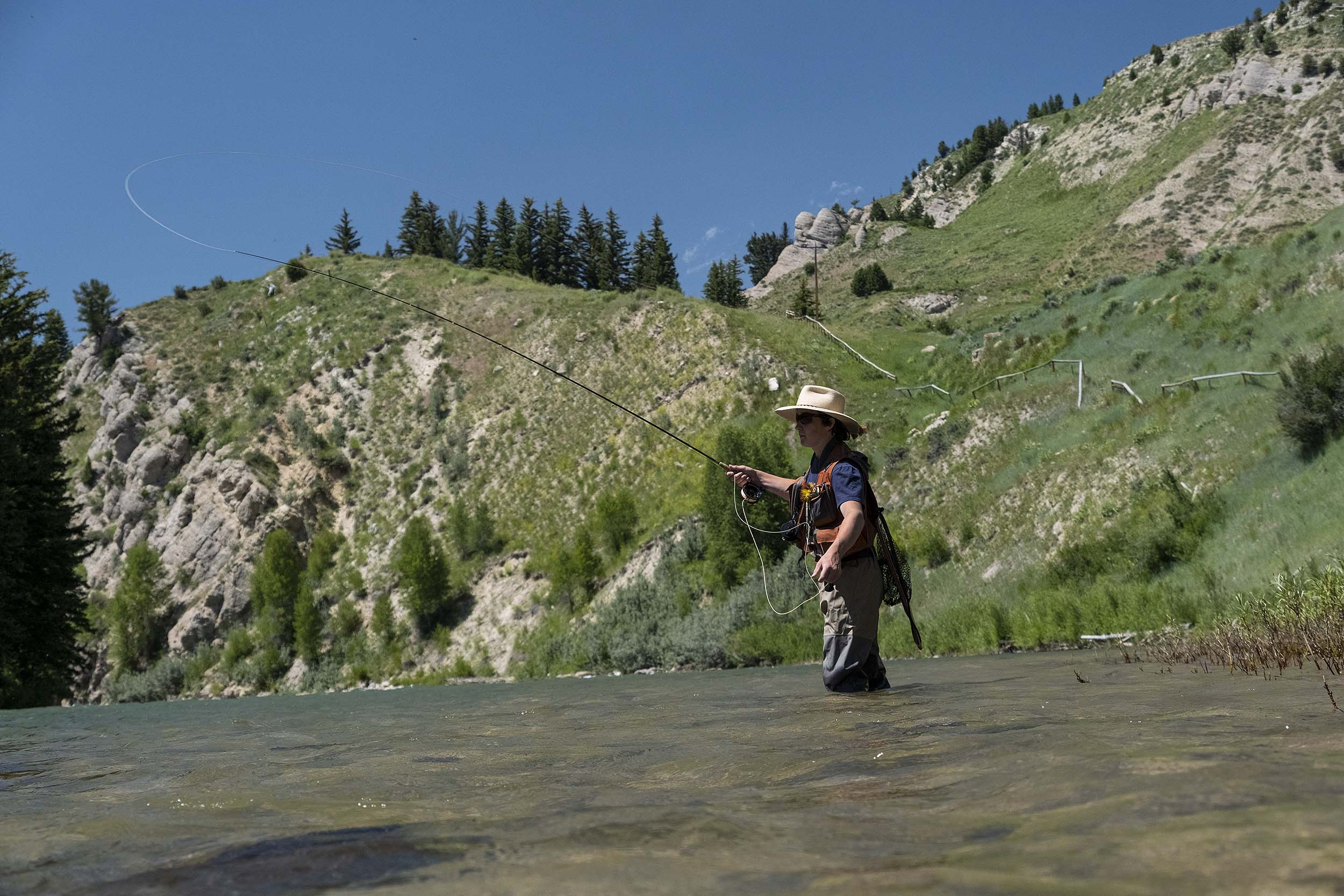 Fly Fishing on the Hoback River, Wyoming