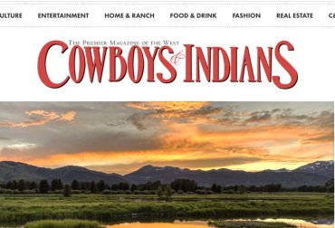 Cody Creek Sanctuary in Jackson Hole featured in Cowboys & Indians magazine