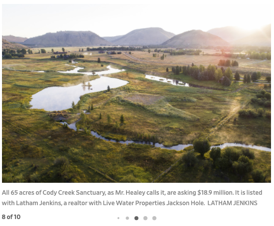 Wall Street Journal House of the Day - Cody Creek Sanctuary - Jackson Hole Real Estate