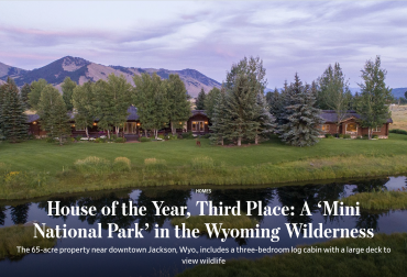 Cody Creek Sanctuary Awarded Top Honors in Wall Street Journal's 2020 House of the Year Contest
