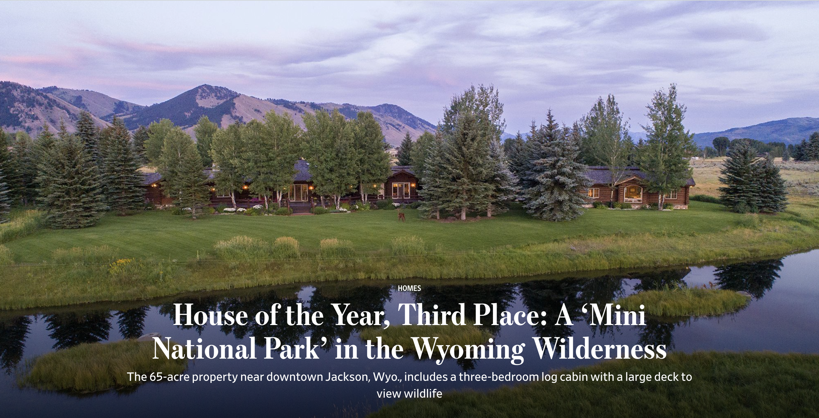 wall street journal house of the year cody creek sanctuary jackson hole wyoming